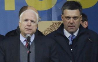 McCAIN on stage with Ukrainian NEO-FASCIST