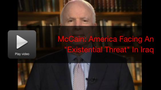 McCAIN THREATS