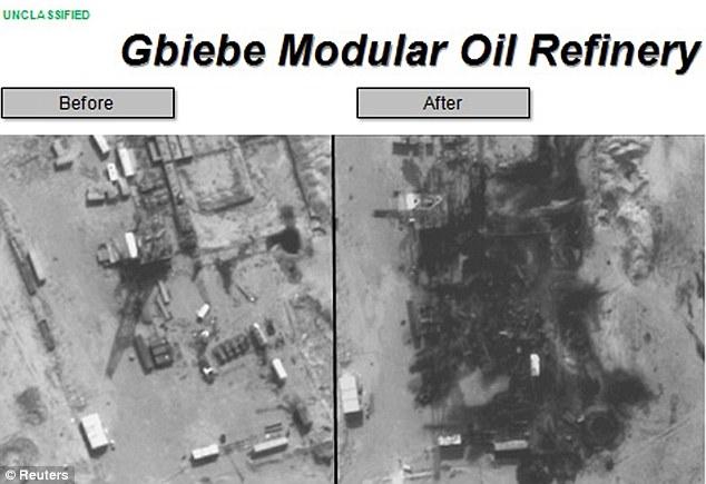 SYRIAN OIL BOMBED