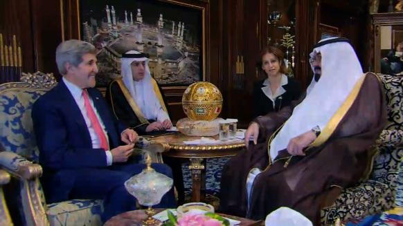 John Kerry and Saudi King Abdullah