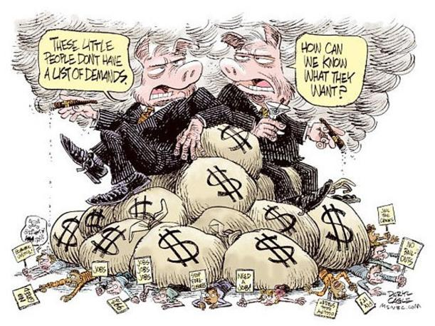BANKSTERS IGNORE THE LITTLE PEOPLE