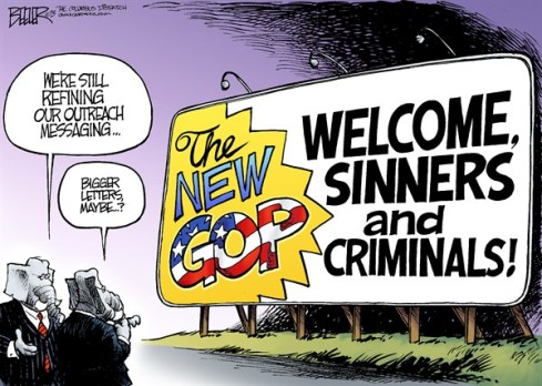 GOP = PARTY OF CRIMINAL SINNERS