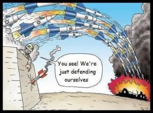 ISRAEL BOMBS DOMINATE PALESTINIAN ROCKETS!