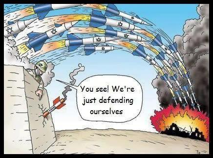 ISRAEL BOMBS DOMINATE PALESTINIAN ROCKETS!