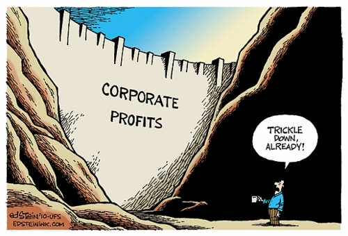 NO SUCH THING AS TRICKLE DOWN = GOP-AIPAC-WALL STREET LIES