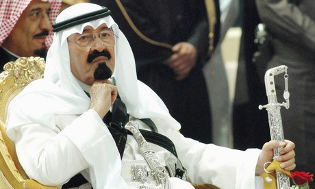 SAUDI DICTATOR ON THRONE!