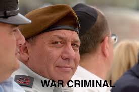 General Eizenkot ISRAELI MASS MURDERER
