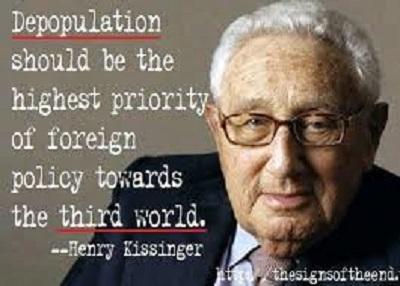 henry kissinger depopulation of the goyim