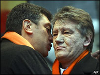 Nemtsov and Yuschenko in Ukraine