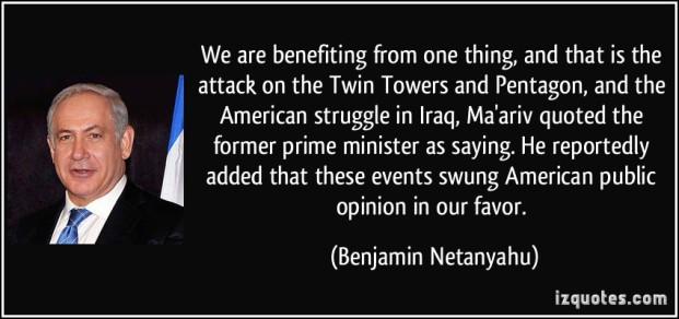 NETANYAHU  ISRAEL is benefiting 911 WTC + PENTAGON