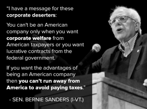 SANDERS ON CORP WELFARE