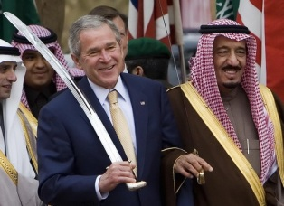 SAUDI ARABIA NEW KING + BUSH READY FOR NEXT BEHEADING