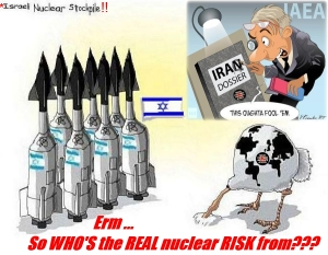 ISRAELIS = MASS NUMBER OF ILLEGAL NUKES