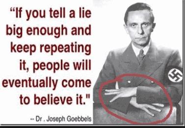 Hasil gambar untuk goebbels lies