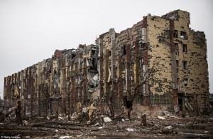 UKRAINE CIVILIAN HOMES DESTROYED