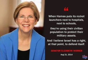 WARREN LIES ABOUT HUMAN SHIELDS