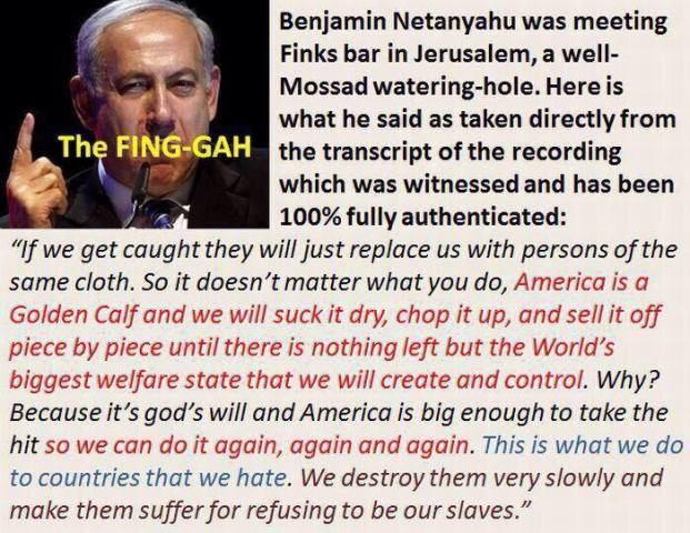 NETANYAHU SUCKING AMERICA DRY