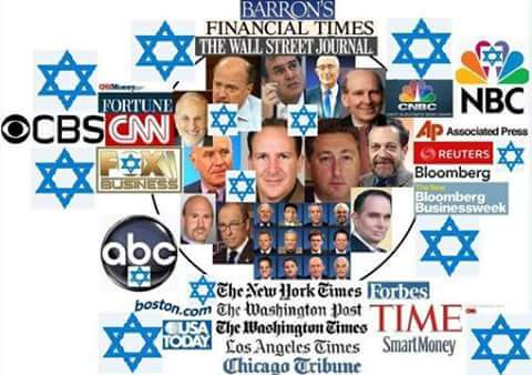ZIONISM OWNS AMERICAN AND MOST WESTERN MEDIA!