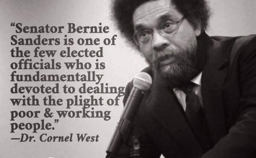CORNEL WEST ENDORSES SANDERS FOR PRESIDENT