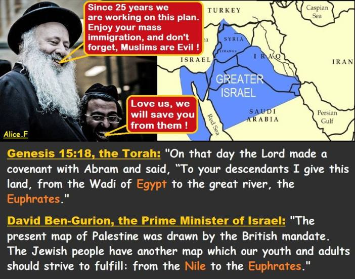 MAP OF ISRAEL BY THE ROTHSCHILDS JEWISH MAFIA!