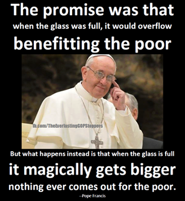 POPE TRICKLE DOWN BS