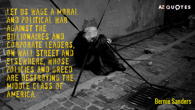 SANDERS ON WAR AGAINST THE SUPER-RICH