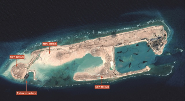 CHINA BUILDS ISLAND IN CHINA SEA