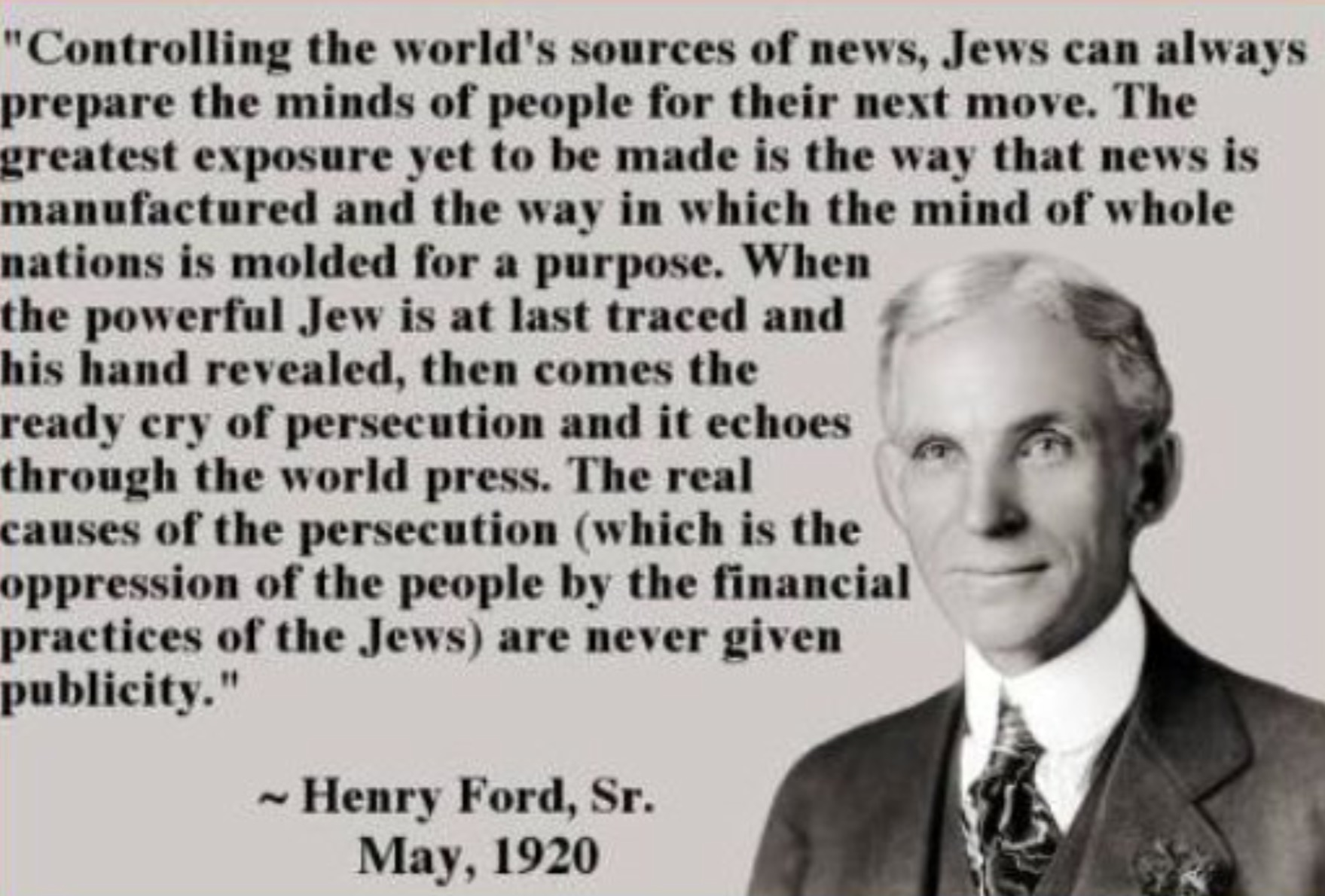 Ford Quote Adorable Israel  The Media  And The Anatomy Of A Sick Society  Henry