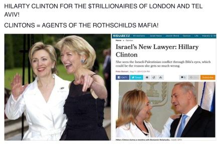 #1 CLINTON = ROTHSCHILDS MAFIA + ISRAEL NOT AMERICA