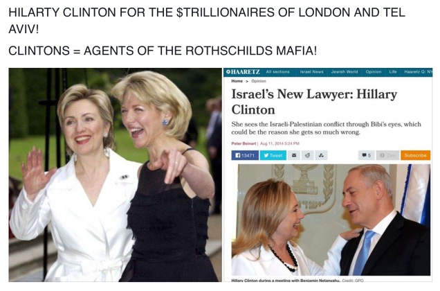 #1 CLINTON = ROTHSCHILDS MAFIA + ISRAEL NOT AMERICA