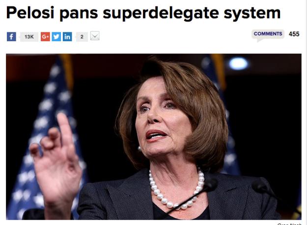 Pelosi pans superdelegate system
