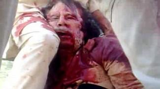 GADDAFI DEATH SCENE