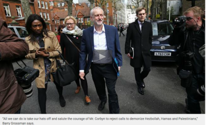 BRAVE AND STRONG JEROMY CORBYN FIGHTING THE EVIL ZIONIST MAFIA