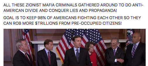 ALL THESE ZIONIST MAFIA CRIMINALS GATHERED AROUND TO DO ANTI-AMERICAN DIVIDE AND CONQUER LIES AND PROPAGANDA! GOAL IS TO KEEP 98% OF AMERICANS FIGHTING EACH OTHER SO THEY CAN ROB MORE $TRILLIONS FROM PRE-OCCUPIED CITIZENS!