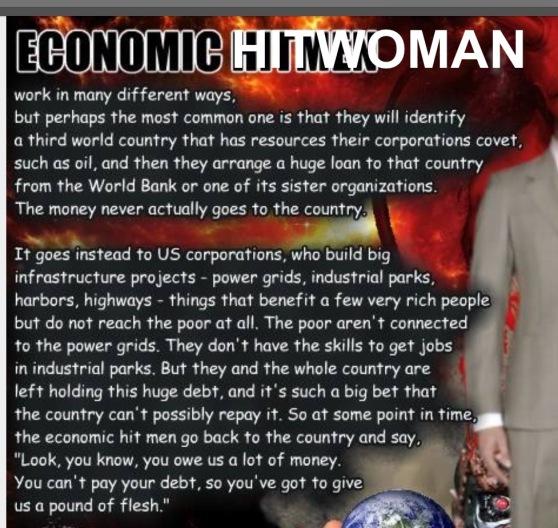 ECONOMIC HITWOMAN = HILLARY CLINTON 2