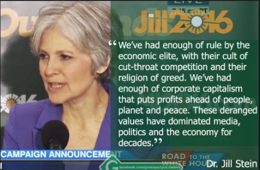 JILL STEIN = A REAL WOMAN FOR HUMANITY!