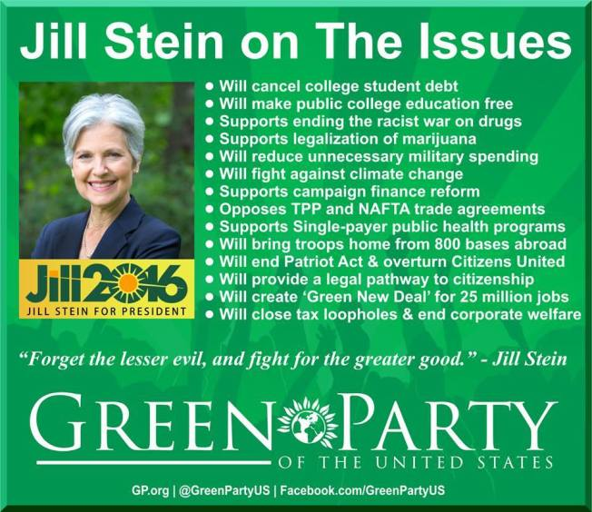 JILL STEIN PLATFORM FOR AMERICAN PEOPLE