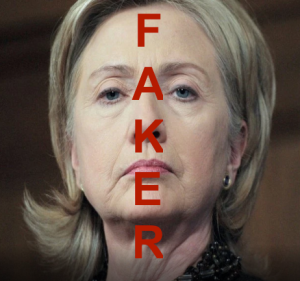 HILLARY THE TOTAL FAKER