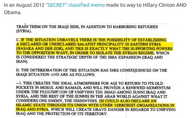 SO HILLARY AND OBAMA WERE IN ON CREATING AND FUNDING OF ISIS!