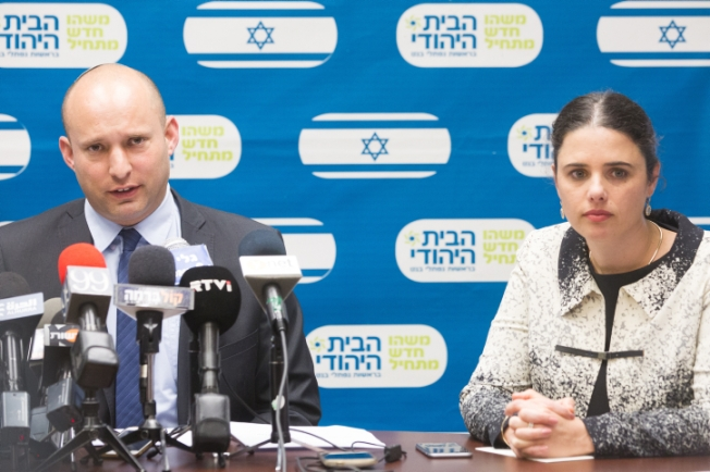 Naftali Bennett, head of the Jewish Home party, leads the weekly Jewish Home party meeting at the Knesset, Israel's parliament in Jerusalem on February 29, 2016. Photo by Miriam Alster/Flash90 *** Local Caption *** ????? ??? ???? ???? ?????? ???? ????? ??? ??? ???????