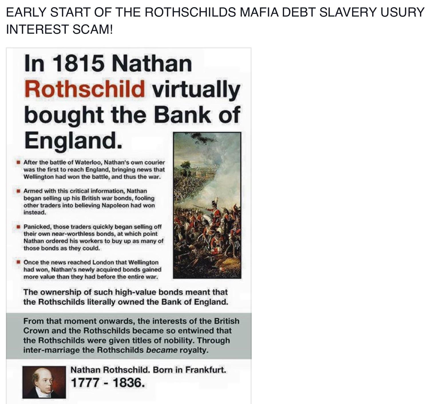 ROTHSCHILDS ZIONIST MAFIA SCAM OF USURY INTEREST = ROBBING HUMANITY