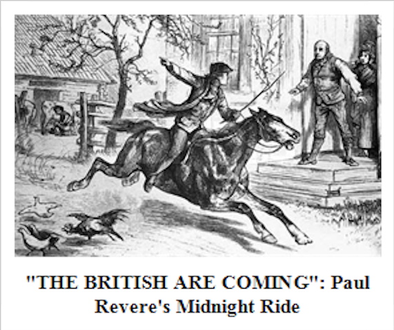 an introduction to the life of paul revere during the british invasion in 1775 American revolution era, 1775 - 1783 + report  member of the committee that wrote the declaration of independence wentworth cheswell african american patriot like paul revere, he made an all-night ride back from boston to warn his community tof the impending british invasion served in the continental army fought at the battle of saratoga.