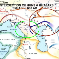 TIMELINE OF THE KHAZAR TURKIC ASHKENAZIS 600 BCE-TODAY'S DNA TESTING
