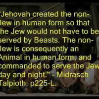 TALMUD QUOTES RELATED TO HATE AND SUPERIORITY OVER AND INEQUALITY VERSUS NON-JEWS