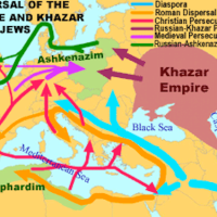 YIDDISH AND ASHKENAZI WERE THE RESULT OF THE KHAZARS - ORIENTAL JEWS - AND EUROPEAN JEWS MERGING AFTER 1300 CE